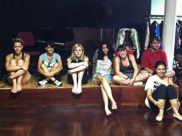 Grupo de alumnos del taller de teatro